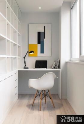 优雅清新的白色家庭办公室