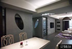 现代冷艳时尚家居三居室设计装修效果图