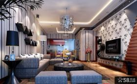 2013现代客厅电视背景墙设计图