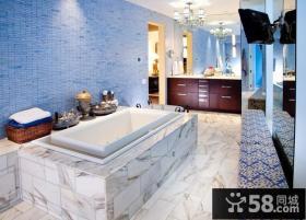 15万打造清新地中海风格小户型卫生间装修效果图大全2012图片