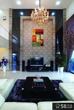 现代装修别墅客厅电视背景墙效果图大全
