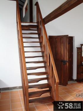 小复式实木室内楼梯设计图