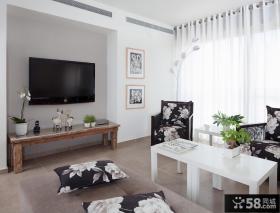 现代小客厅电视背景墙设计