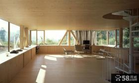 美式木制别墅飘窗设计效果图