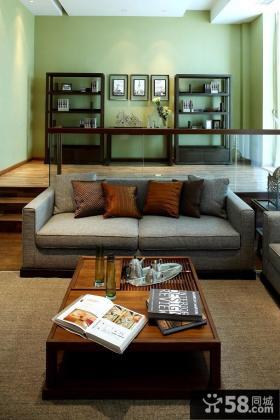 现代中式风格别墅客厅装修效果图欣赏