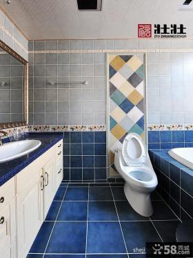 美式风格卫生间瓷砖效果图图片