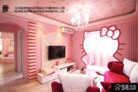 70平米小户型客厅石膏电视背景墙效果图欣赏