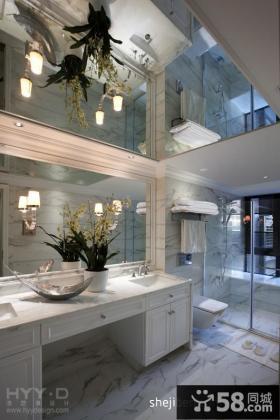 复式楼洗手间装修效果图大全2013图片