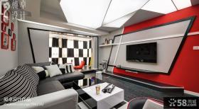 客厅创意电视背景墙装修效果图欣赏