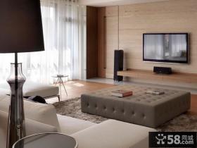 简约客厅电视背景墙图片欣赏