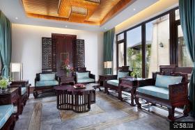 新中式别墅客厅装修