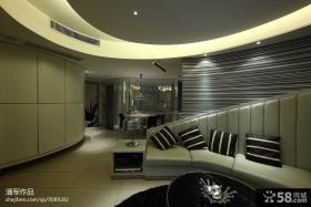 客厅餐厅一体设计效果图欣赏