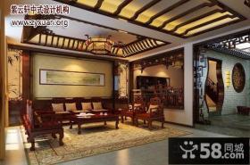 别墅中式设计案例古典风格客厅