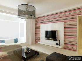 简约风格家装客厅电视背景墙装修效果图