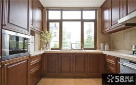 中式曲柳木厨房装潢设计