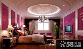 婚房卧室圆形吊顶装修效果图