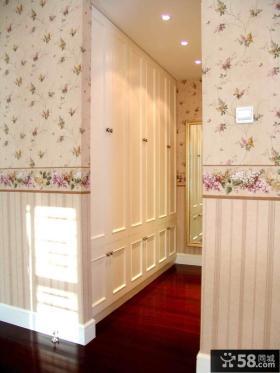 美式田园三居卧室墙面漆效果图