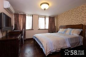 美式样板房卧室
