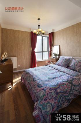 现代风格卧室背景墙设计图片