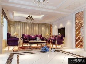 欧式古典风格客厅吊顶装修效果图大全2012图片