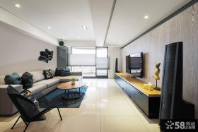 现代日式风格客厅电视背景墙装修效果图大全