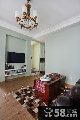 简单客厅电视背景墙效果图片