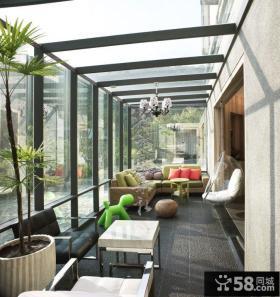 家装复式阳台效果图