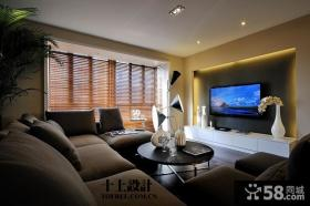 现代客厅电视背景墙装饰设计图