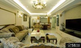 欧式风格豪华客厅装修效果图大全欣赏