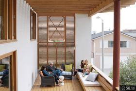 别墅家庭阳台装修设计图