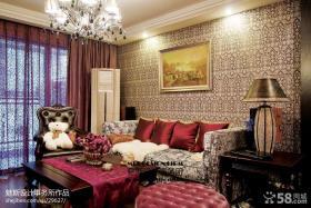 客厅沙发照片墙壁纸图片
