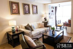 简美式风格小客厅装修效果图