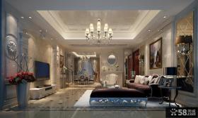 欧式风格主卧室隔断装修设计效果图