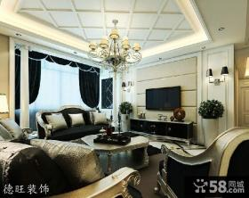 客厅电视背景墙效果图图片