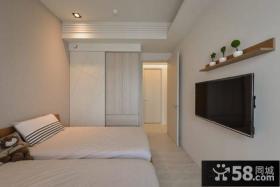 日式家装设计室内卧室电视背景墙效果图大全