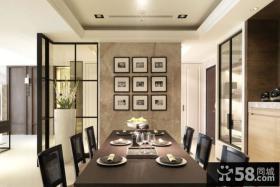 简约中式风格餐厅吊顶装修效果图大全2012图片