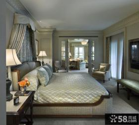 法式风格豪华别墅卧室设计效果图