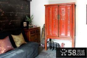 中式古典进门玄关设计效果图