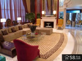现代新古典风格复式楼客厅装修效果图