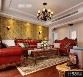 客厅吊顶装修水晶吊灯设计