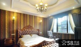2013年美式卧室壁纸装修效果图