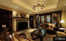 美式新古典风格客厅装修效果图