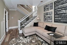 欧式别墅室内楼梯扶手图片