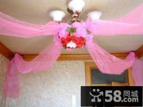 婚房吊顶拉花布置图片