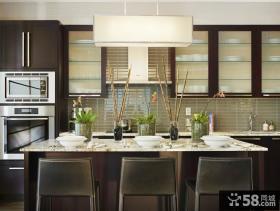 简欧风格三室两厅家庭餐厅橱柜装修效果图