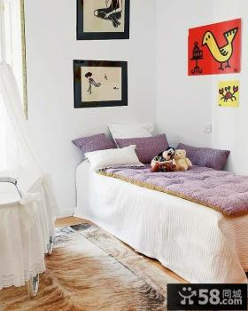 卧室装修效果图大全2012图 80后简约风格卧室飘窗装修效果图