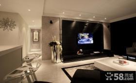 现代风客厅电视背景墙装修