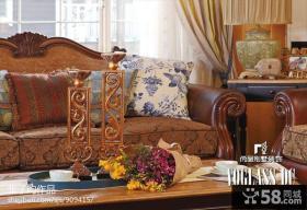 美式风格别墅实木家具效果图