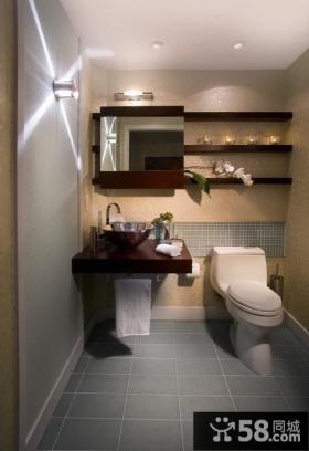 小户型现代简约风格卫生间装修图片