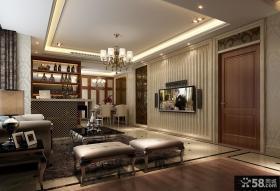 优质欧式现代客厅电视背景墙装修效果图